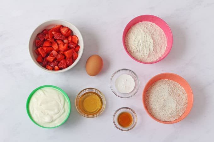 Ingredients for pancakes