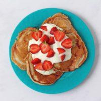 Strawberry Yogurt Pancakes