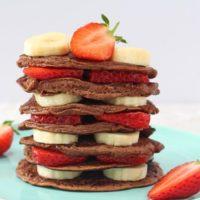Chocolate Pancakes - Baby Weaning & Toddler