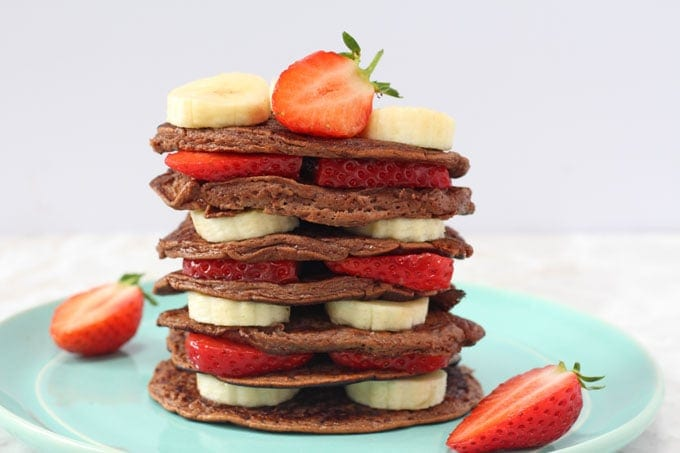 Chocolate Pancakes - 3 simple ingredients