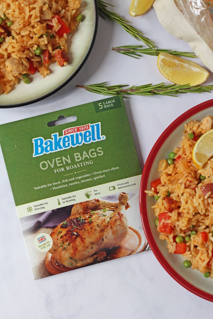 Paella in a bag with Bakewell oven bags