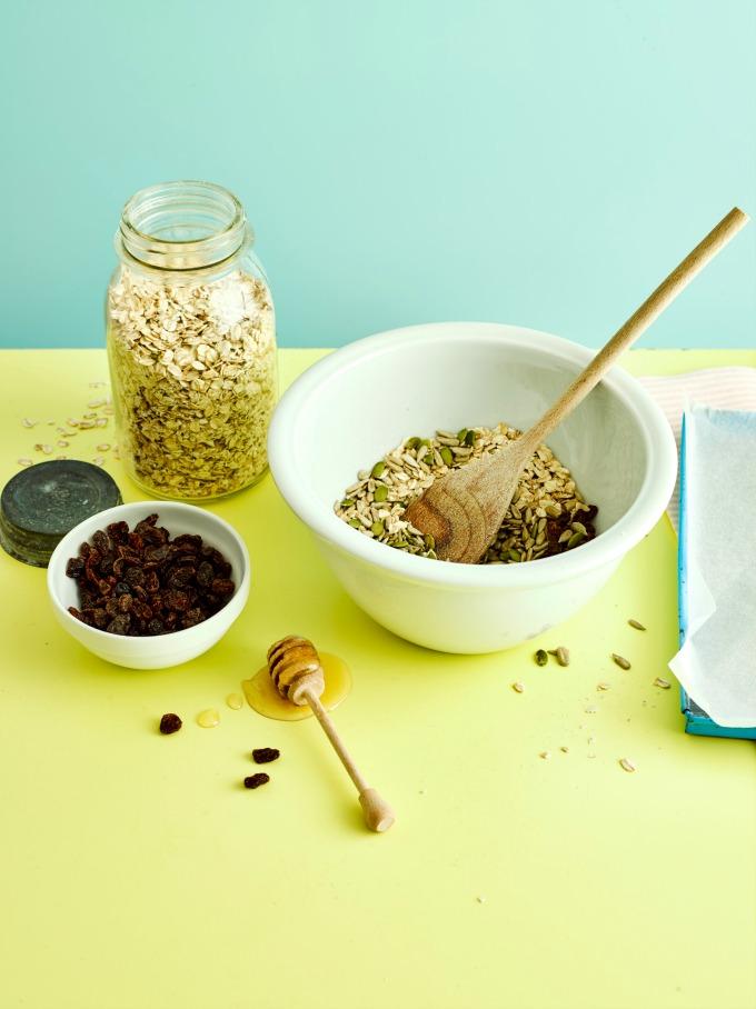 Ingredients for No Bake Peanut Butter Flapjacks