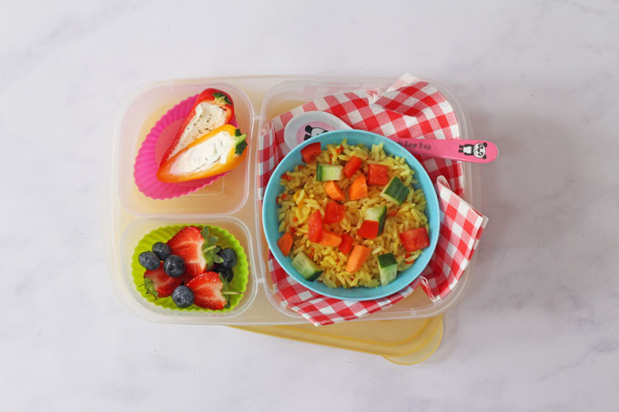 Vegetable Rice Salad Lunch Box for Kids