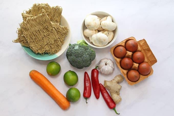 veggie noodle stir fry ingredients