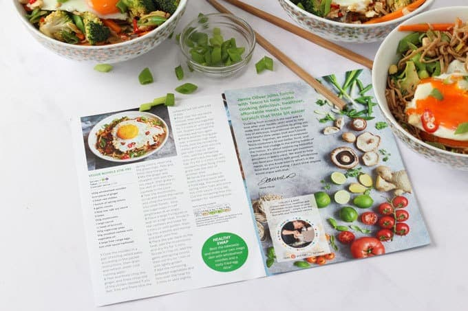 veggie noodle stir fry magazine layout