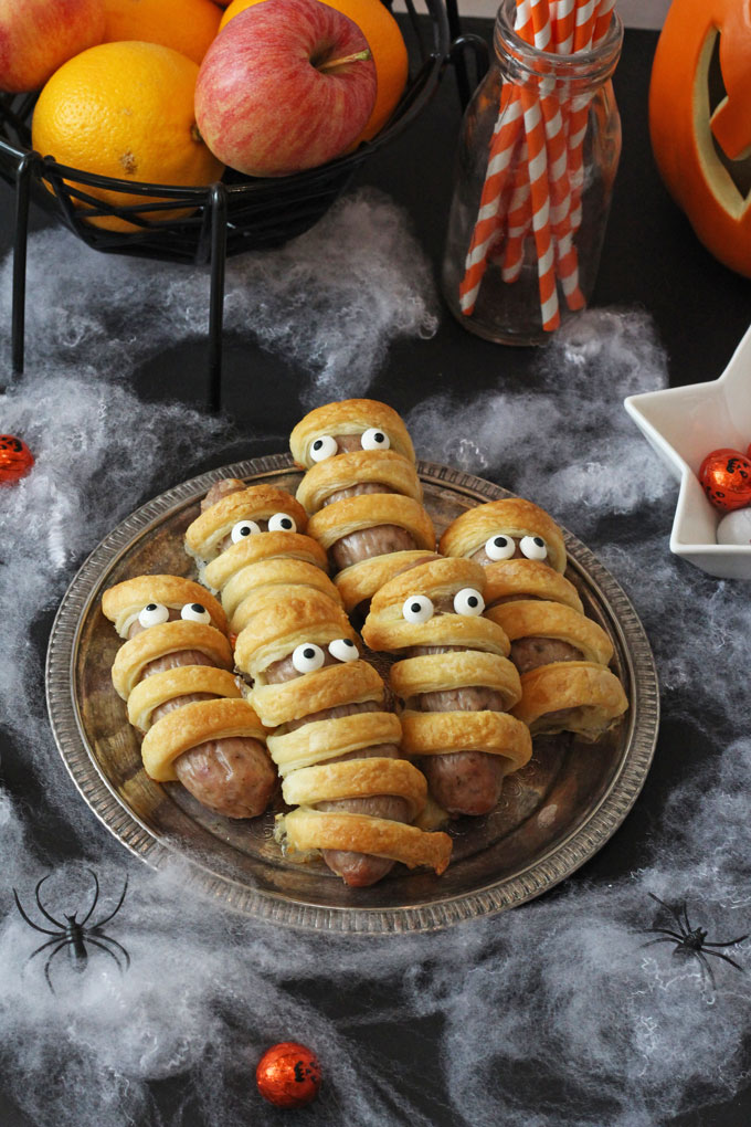 Sausage Mummies , Halloween Food for Kids