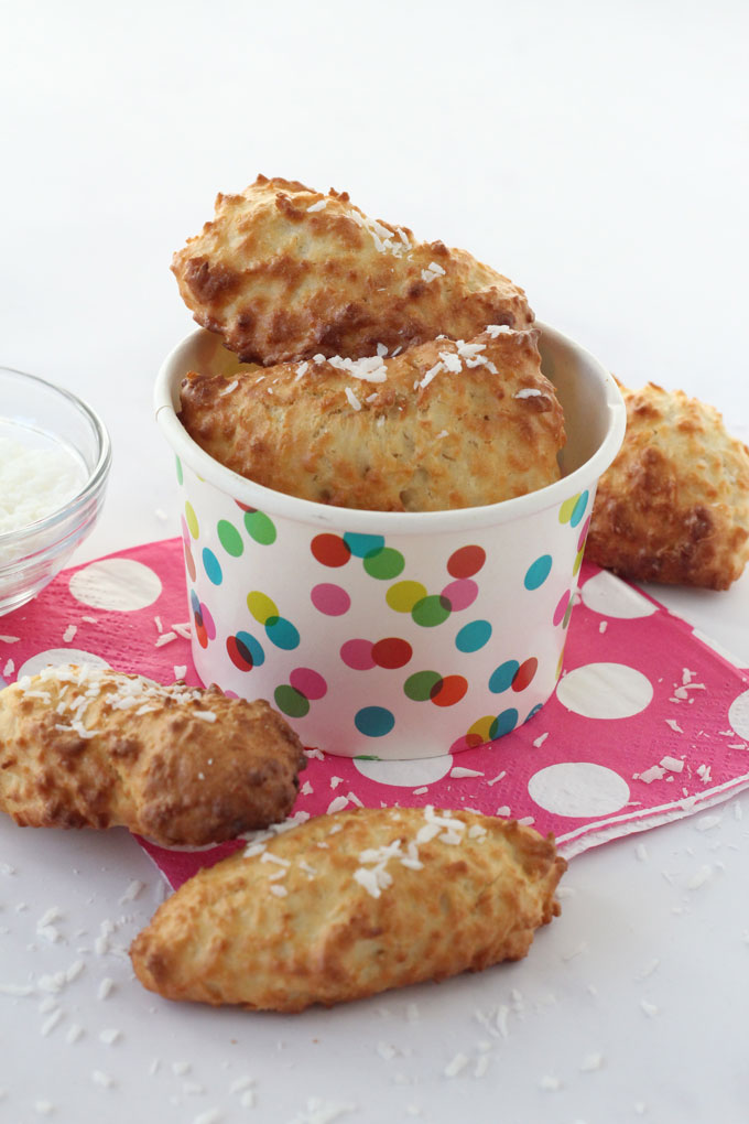 Coconut Bites made in the Tefal Actifry