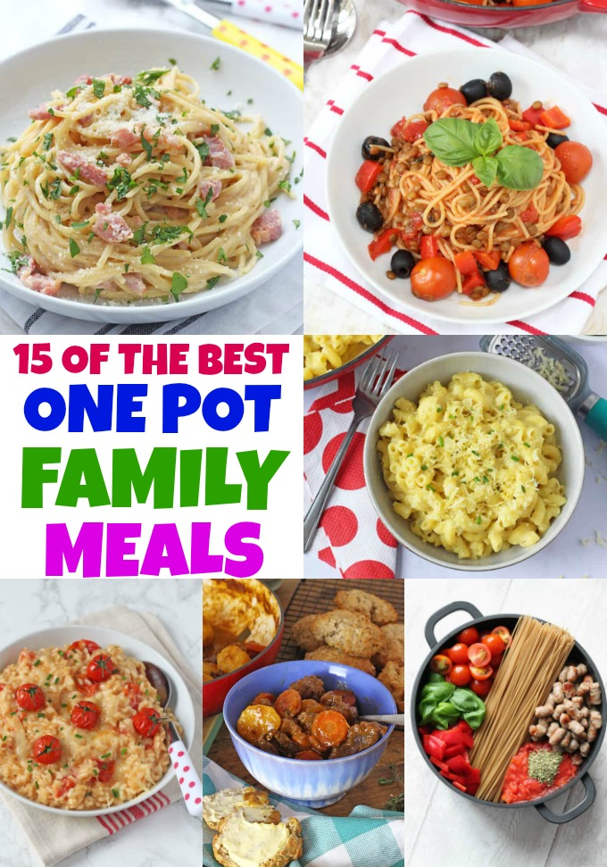 One pot family meals collage