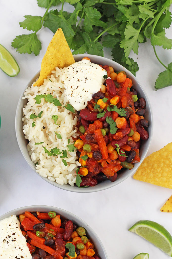 Veggie Bean Chilli Bowl