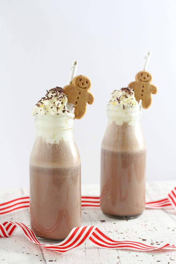 Frozen gingerbread hot chocolate