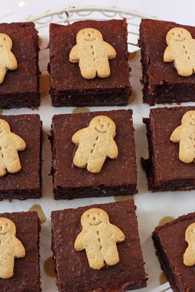 Low Sugar Gingerbread Brownies.