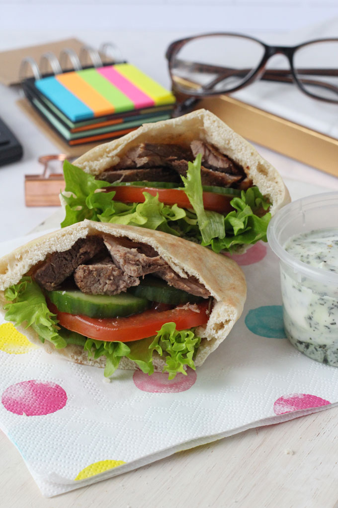 Greek Lamb Pitta Breads