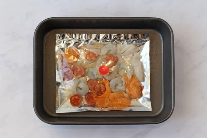 The Saucy Fish Company Seafood Linguine