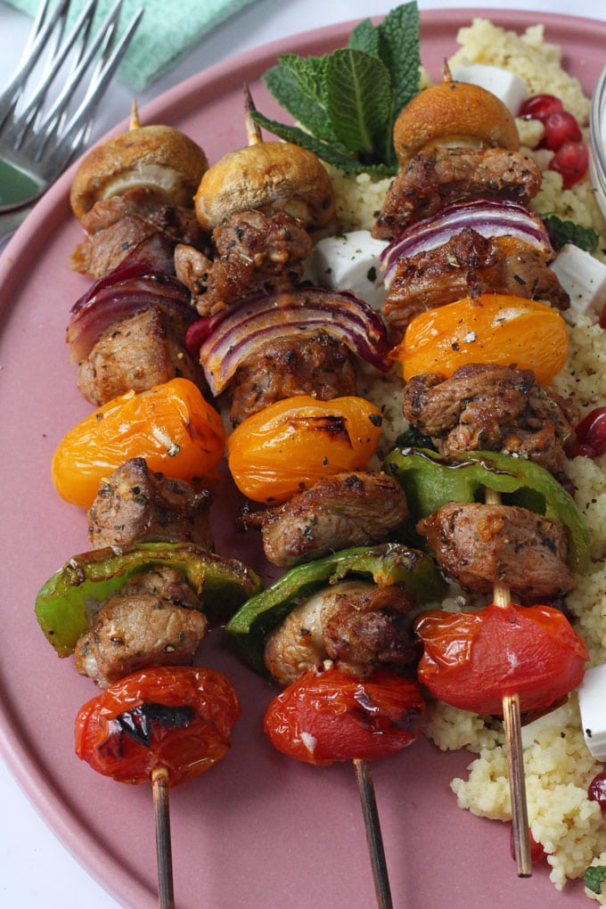 Lamb and Vegetable Kebabs with Middle Eastern Cous Cous