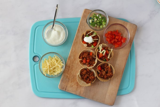 Quorn Taco Cups