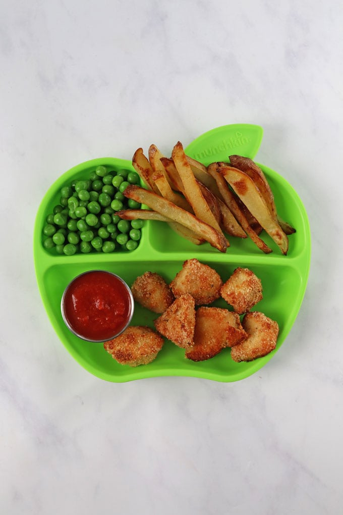 Homemade Chicken Nuggets & Chips for Kids