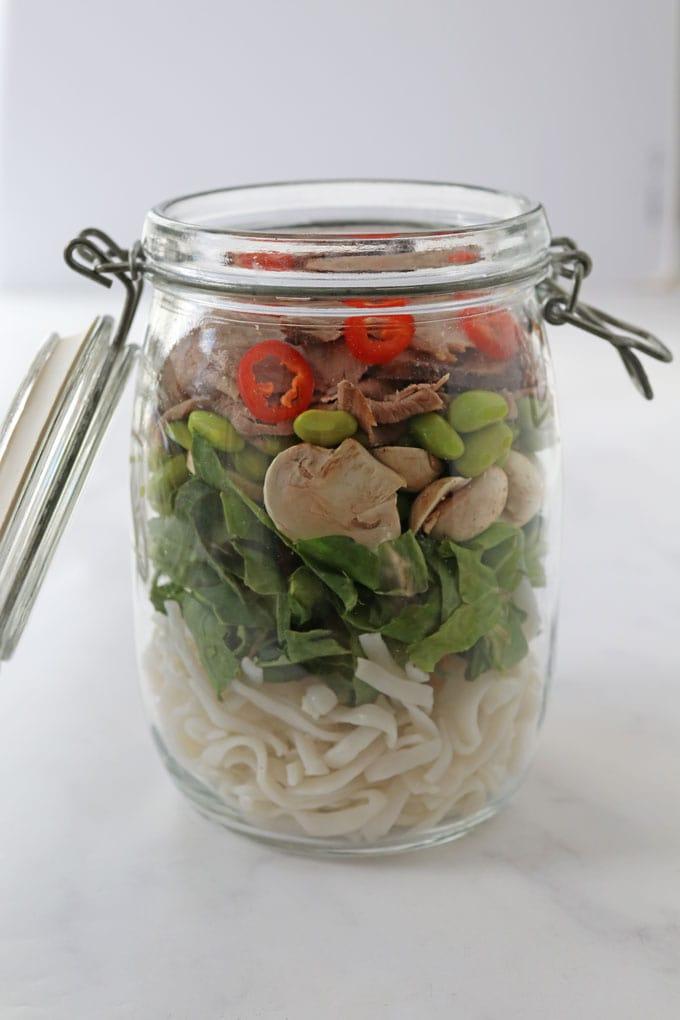 Lamb Noodle Soup in a Jar
