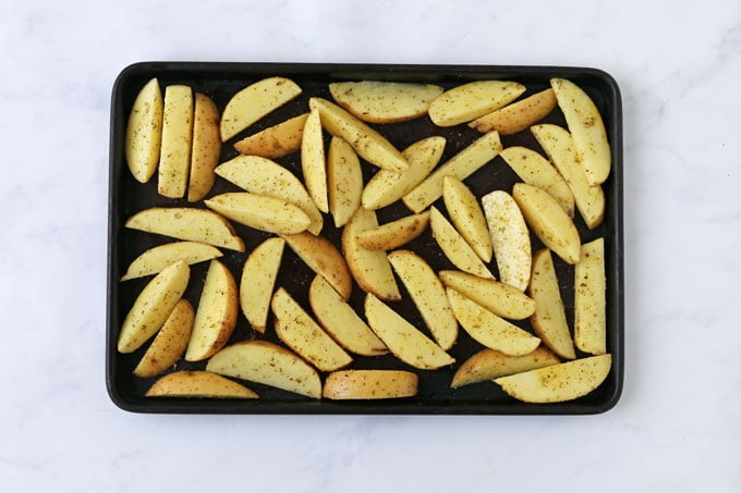 Homemade Chips with Skins on