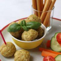 Pesto Parmesan Chicken Meatballs