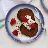 Chocolate Raspberry Pancakes