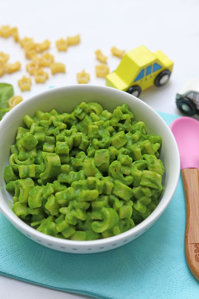 Spinach & Pea Pasta Sauce for baby weaning