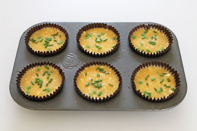 muffin mixture in cases