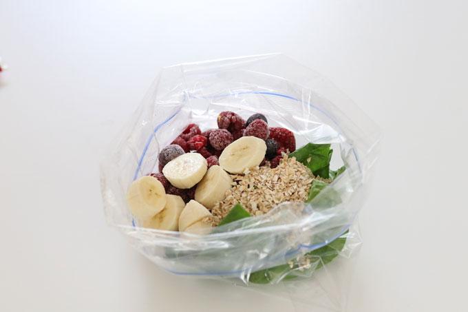 breakfast smoothie bag