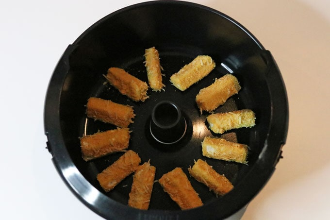 courgette sticks in the ActiFry