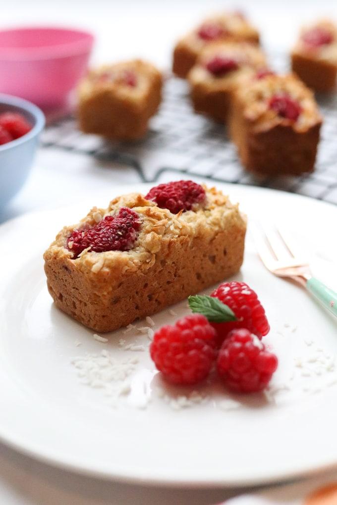Raspberry & Coconut Mini Loaf Recipe