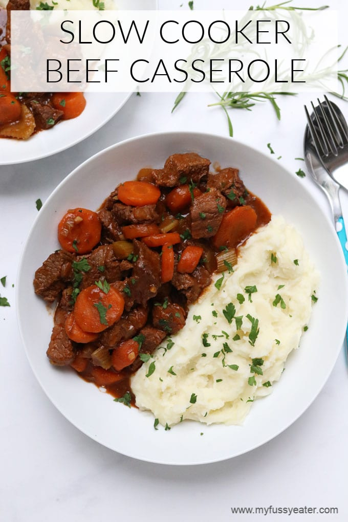 slow cooker beef casserole pinterest pin