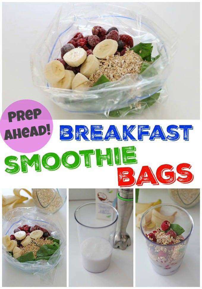 breakfast smoothie bags