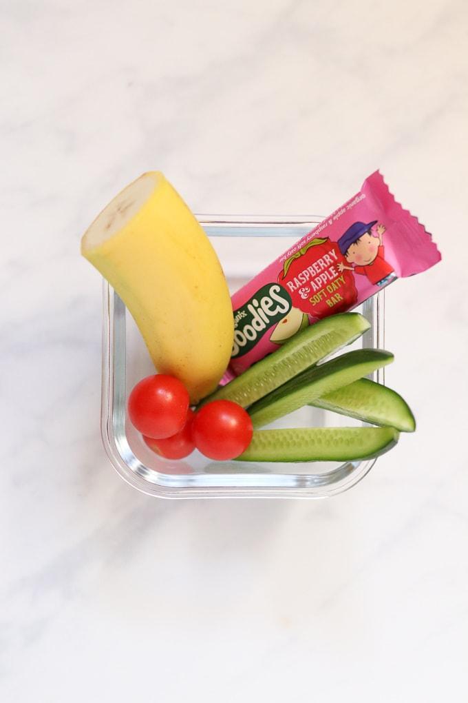 Banana & Oat Bar snack box for kids