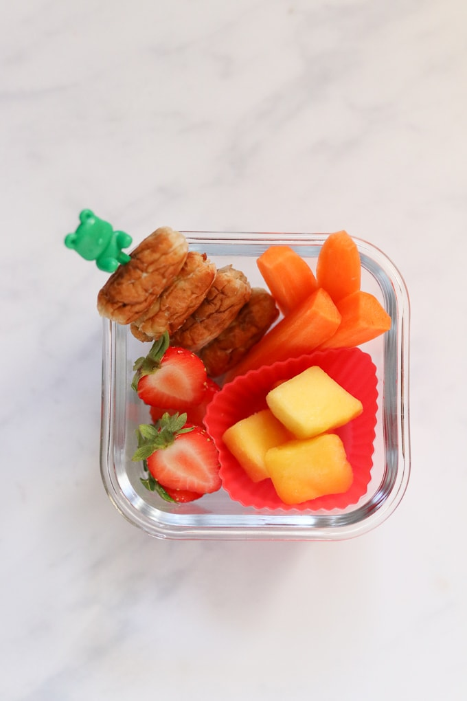 Sausage Skewer Snack Box for Kids