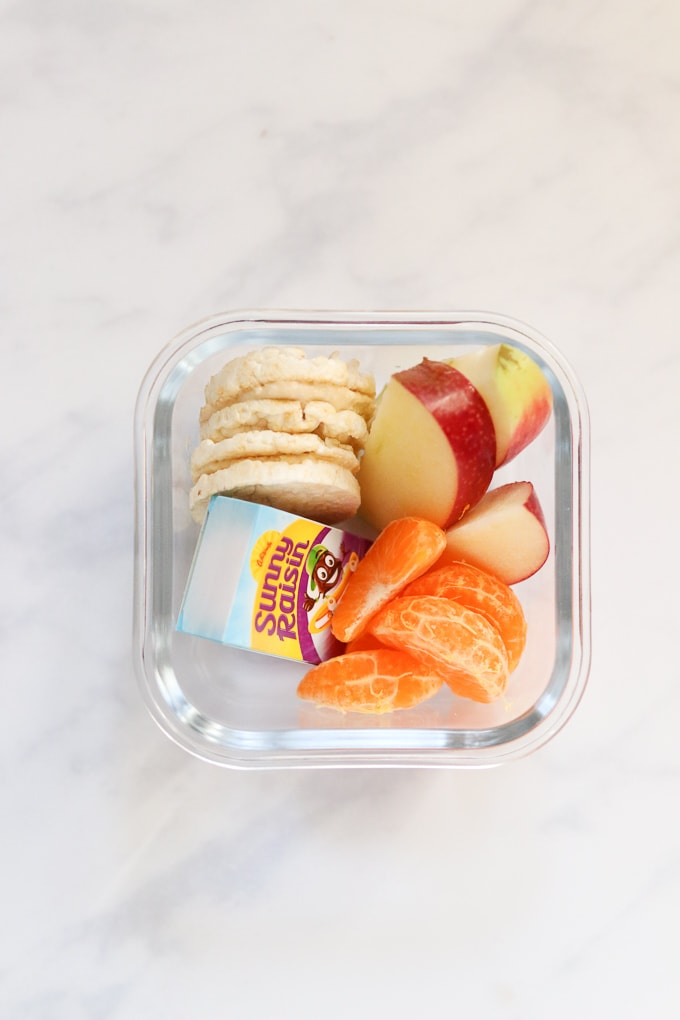Rice Cake Hummus Sandwich Snack Box for Kids