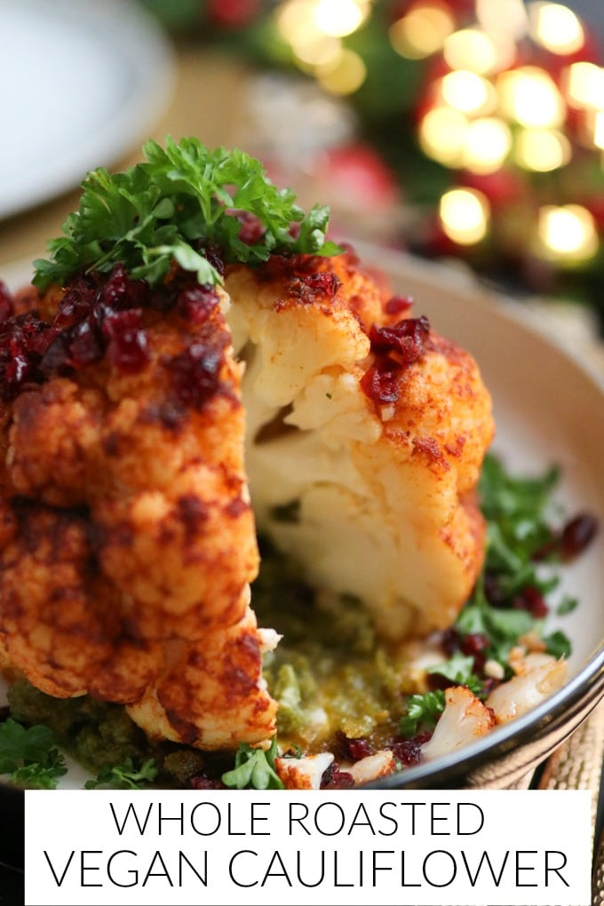Whole Roasted Vegan Cauliflower