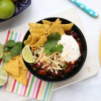 10 minute meal - Smoky Bean Chili