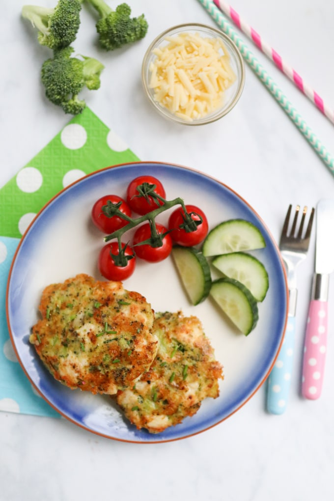 Chicken & Broccoli Fritters with cheese