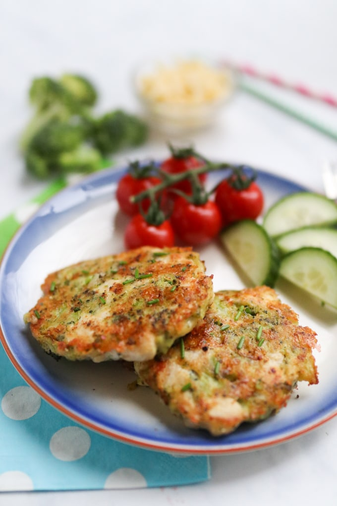 Chicken & Broccoli Fritters for Kids
