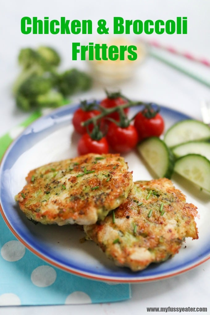Chicken, Broccoli & Cheese Fritters