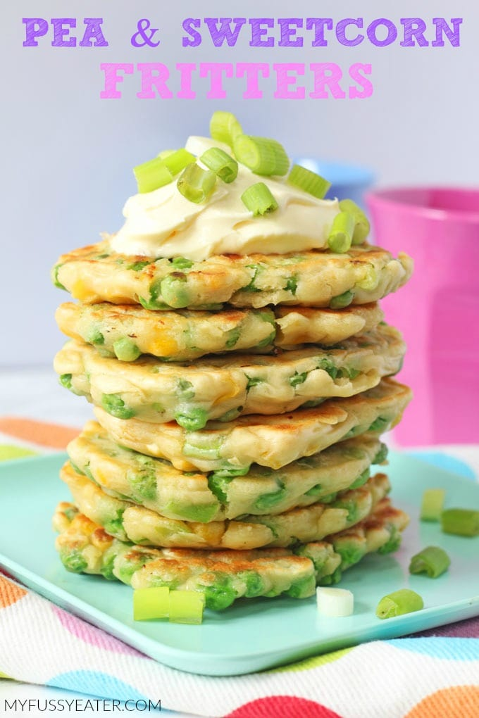 Pea & Sweetcorn Fritters for Kids
