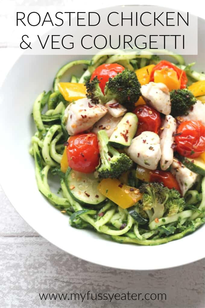 chicken and vegetable courgetti