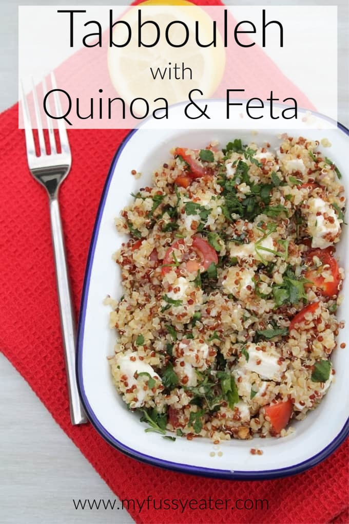 tabbouleh with quinoa and feta