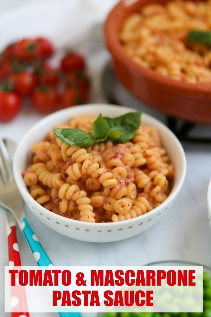 Quick and Easy Pasta Recipe - Tomato & Mascarpone