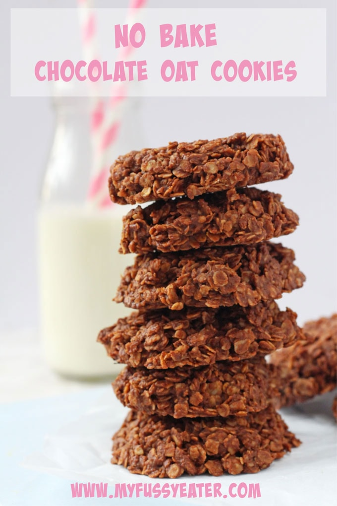 no bake chocolate oat cookies