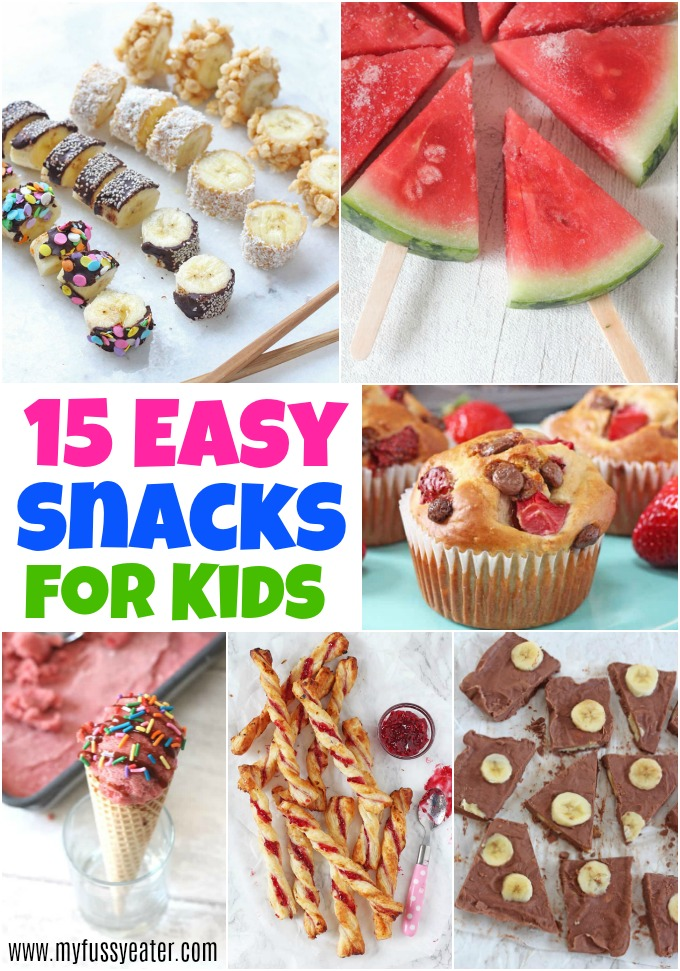 15 Easy Snacks For Kids
