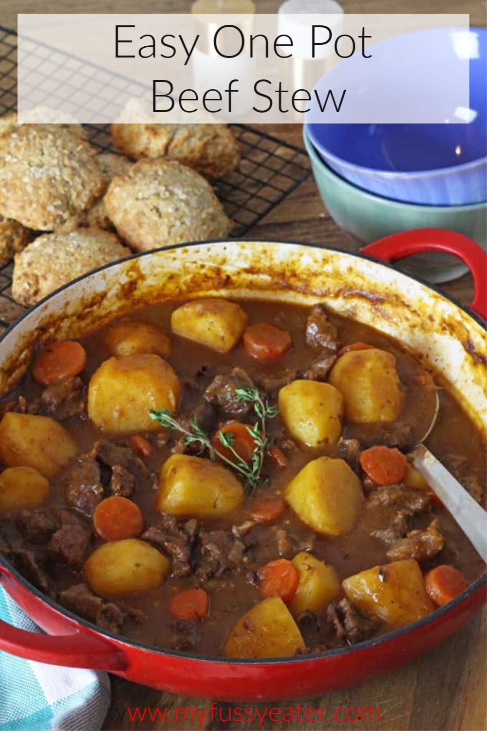 easy one pot beef stew pinterest pin