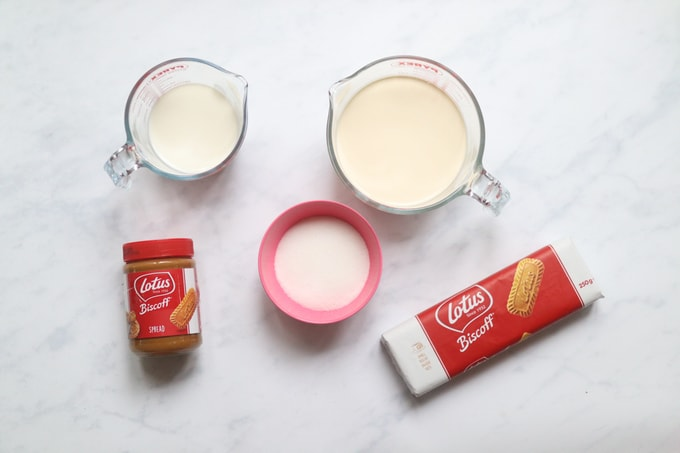 ingredients for biscoff ice cream