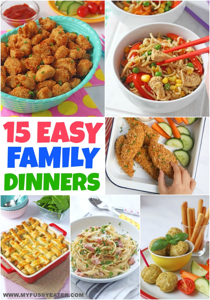 15 delicious and easy family friendly dinner recipes that are sure to please everyone!
