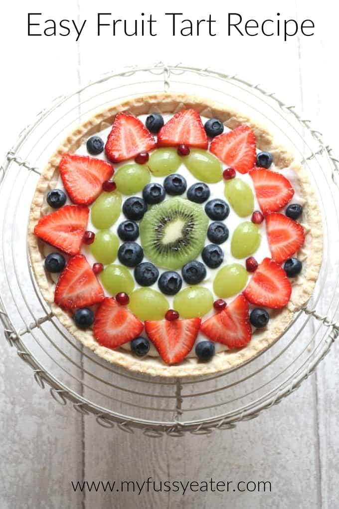fresh fruit tart pinterest pin