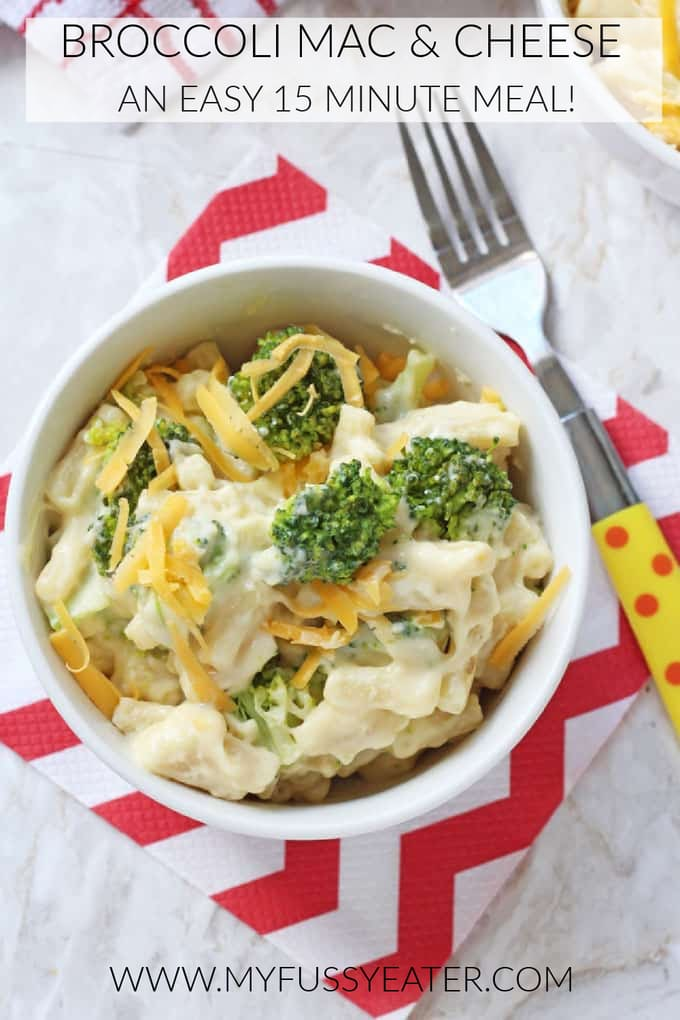 broccoli mac & cheese pinterest pin